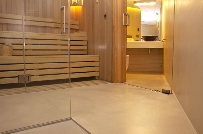 Ecomolta impermeabile per ambiente bagno con sauna - Geos