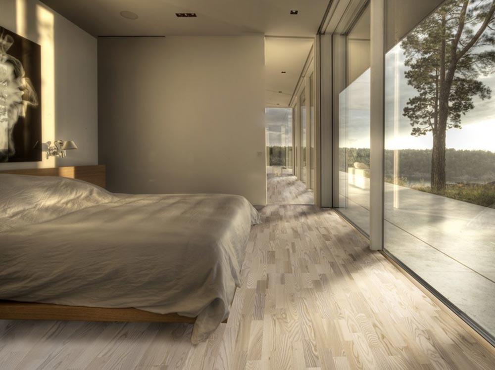 L'ambiente notte è classicamente quello più consone al pavimento in legno