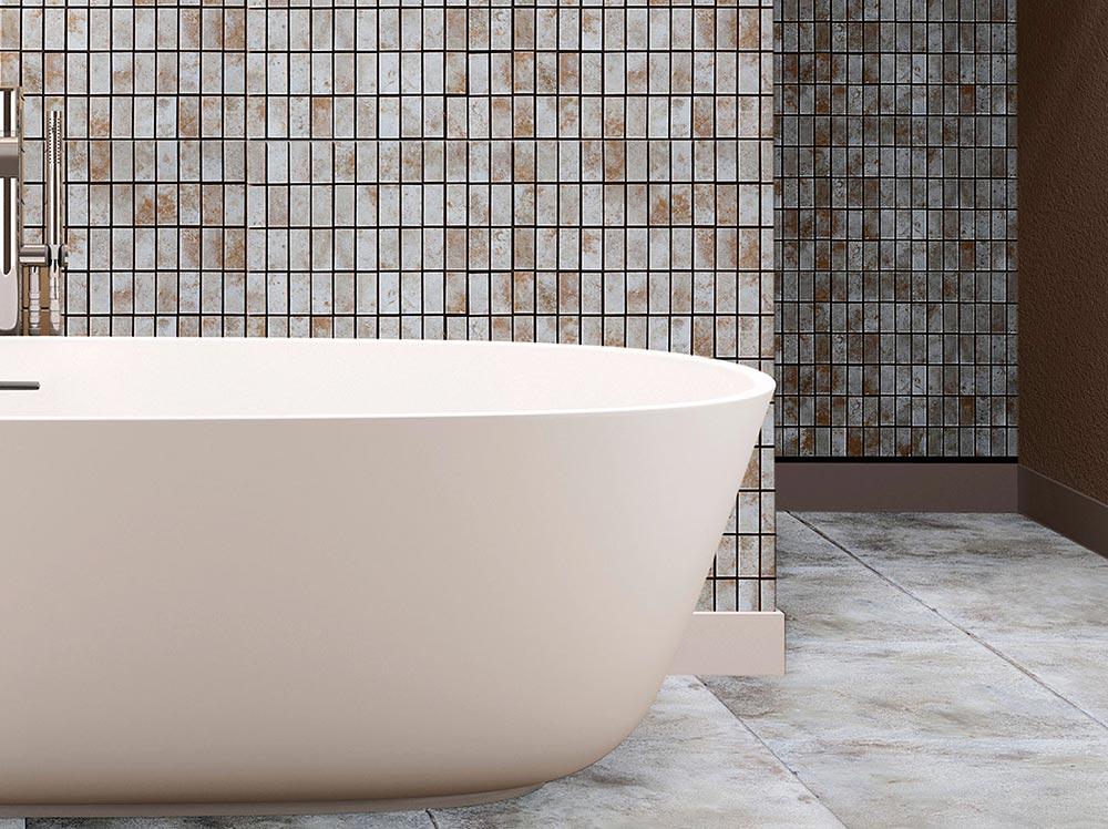 Piastrelle in ceramica a mosaico per l'ambiente bagno