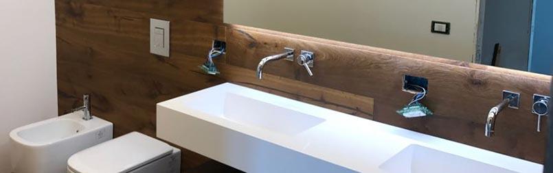 ristrutturazione ambiente bagno - lavabi