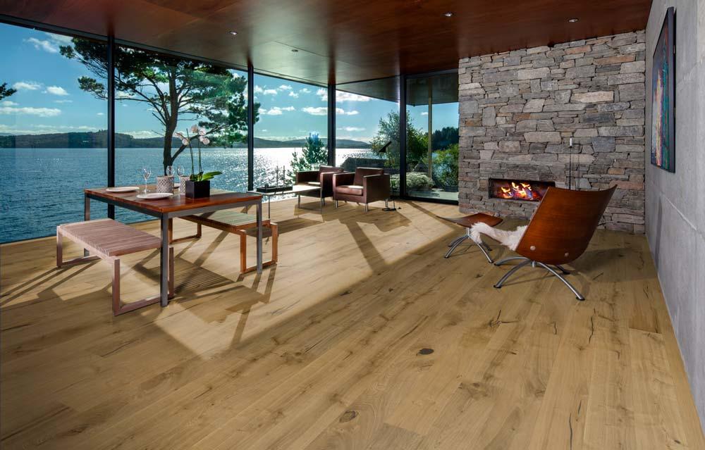 sette magnifiche finiture su un'unica tipologia di legno, il rovere